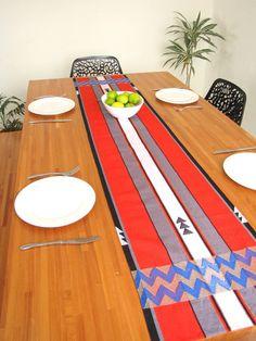 Handwoven Zina Table Runner Stripes www.chiapasbazaar.com