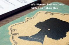 Yes, business cards can be AWESOME! Wooden Business Cards from Jukeboxprint.com - 100% Natural and Biodegradable
