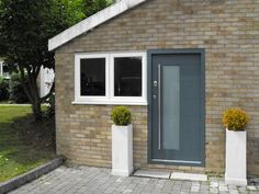 High Security Door with Wood Finish and Vision Glazed Panel