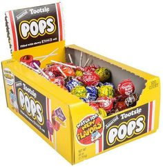 Assorted Flavor Tootsie Pops 100ct Box - 1000 Units