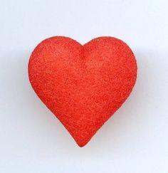 Vtg Red Velvet Coated Plastic Heart Valentine's Day Tie Tack Pin in Orig Bag  $12.95