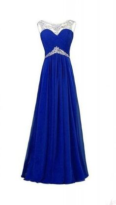 Royal Blue New Arrival Charming Long Beading Real Made Prom Dresses,Long Evening Dresses,Prom Dresses On Sale