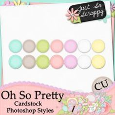 Oh So Pretty Cardstock Photoshop Styles