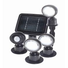 Solar Magic Black Solar Motion Sensor Spot Light - 3 Pack