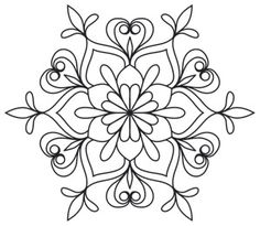 Baroque Noel - Fleur Flake | Urban Threads: Unique and Awesome Embroidery Designs