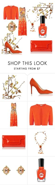 """""""fall floral"""" by shannongarner ❤ liked on Polyvore featuring Crate and Barrel, L.K.Bennett, NOVICA, Juicy Couture and Sally Hansen"""