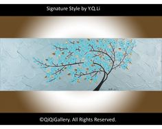 """""""Gentle Breeze"""" by QIQIGallery 36""""x12"""" Original Painting"""
