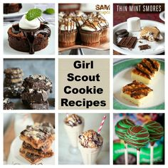 13 Girl Scout Cookie Recipes - do you know what cause obesity - i think it has to be girl scout cookies - to be thin or eat the cookie - i know I'll eat the thin mints