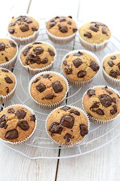 Bezglutenowe muffinki bananowe z czekoladą Frappuccino, Clean Eating, Deserts, Sweets, Healthy Recipes, Homemade, Breakfast, Food, Ideas