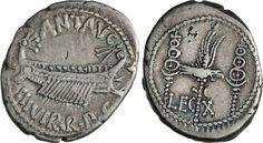 NumisBids: Numismatica Varesi s.a.s. Auction 65, Lot 120 : MARC'ANTONIO (32-31 a.C.) Denario, leg. X. B. 117 Syd. 1228 ...