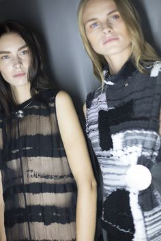 See all the gorgeous beauty backstage at Damir Doma's Milan Fashion Week runway show, now on wmag.com
