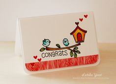 the Lawn Fawn blog: Home Sweet Home Congrats Birdhouse card by Latisha Yoast.
