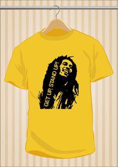 Camiseta Bob Marley Get Up Stand Up #TShirt #Tee #Art #Design con envío #gratis sólo en www.UppStudio.com