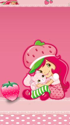 Strawberry Shortcake Pictures, Looney Tunes Wallpaper, Hello Kitty Wallpaper, Cute Dolls, Cute Wallpapers, Iphone Wallpaper, Birthday Cards, Boarders, Anime