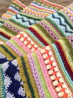 Mixed stripey blanket progress Angelala242