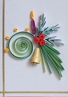 neli: Quilling small cards - Christmas 8 ( 5cm / 7,5cm )