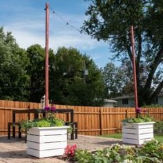 Learn how to build a pergola in your backyard to shade a stone patio or deck. These pergola plans include wood beams and lattice set on precast columns. Building Raised Garden Beds, Building A Pergola, Pergola Plans, Woodworking Projects, Diy Projects, Project Steps, Raised Planter, Garden Structures, Planters