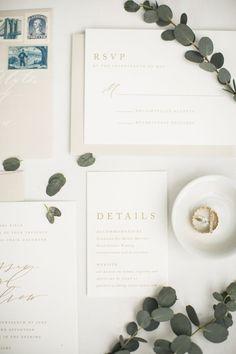 The Adore Semi-Custom Wedding Invitation Suite | simple, traditional, classic, letterpress, foil, minimal, elegant, unique, creative, design, wedding, neutral, calligraphy, illustration, ideas, design, modern, set, unique | Gatherie Creative | photography