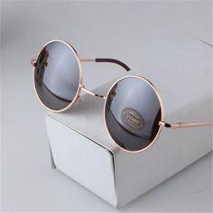 c3fde2c8fa Fashion Vintage Round Sunglasses For Women Men Brand Designer Mirrored  Glasses Retro Female Male Sun Glasses