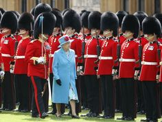 Irish Guard and the Queen