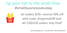 don't forget about the small fries! Small Business Saturday, Don't Forget, Fries, News, Modern