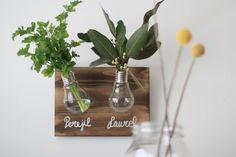 diy con bombillas Diffuser, Diy Decorating, Bulbs, Creativity, Cooking, Home, Loudspeaker Enclosure