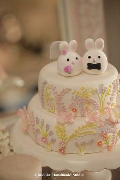 https://flic.kr/p/Bz6JC2 | Bunny and Rabbit wedding cake topper | www.etsy.com/listing/227550394/bunny-and-rabbit-wedding-c...