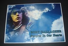 Rory Gallagher poster print Forever In Our Hearts A3 Size