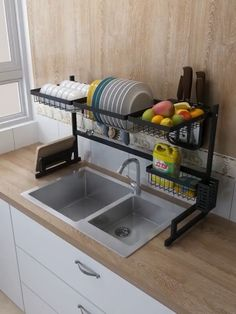 Turn the sink into a workbench Make the most of the space above the sink Whether it is disassembly or cleaning is very convenient # Home Decor kitchen STAINLESS STEEL DRAIN RACK Kitchen Room Design, Home Decor Kitchen, Rustic Kitchen, Interior Design Kitchen, Kitchen Furniture, Home Kitchens, Diy Home Decor, Kitchen Designs, Kitchen Set Up