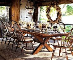 Christmas, Decoration Indoor and Outdoor for Thanksgiving Day : Unique Thanksgiving Concept Dinning Room