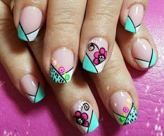 Uñas Shellac Nail Designs, Shellac Nails, Toe Nail Designs, Toe Nails, Acrylic Nails, Spring Nails, Summer Nails, Semi Permanente, French Tip Nails