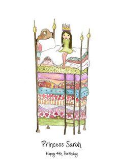 princess and the pea illustration - Google Search