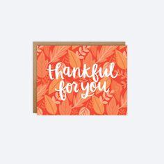 Agradecido para ti - caída acción de gracias tarjeta