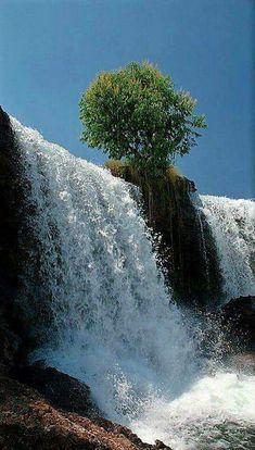 Interesting waterfall