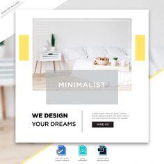 Social Media Poster, Social Media Banner, Interior Design Companies, Interior Design Studio, Interior Design Instagram, Bunting Design, Small Apartment Interior, Folder Design, Social Media Design