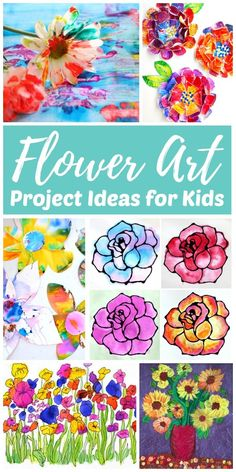 Teach children how to draw and paint flowers with this gorgeous collection of easy flower art projects for kids. There are so many fun ways to create blossom and flower art. Use these easy flower Recycled Art Projects, Easy Art Projects, Projects For Kids, Easy Flower Drawings, Easy Drawings For Kids, Drawing Flowers, Easy Arts And Crafts, Kids Crafts, Hero Crafts