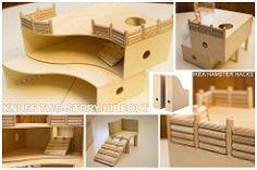 Ikea Hack Knuff Two-Story House (squishy.carol) Tags: house cute ikea project aquarium rodent diy cage hamster terrarium doityourself hideout vivarium expedit kallax knuff twolevel detolf