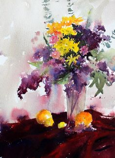 Lilacs and Oranges  by Vinita Pappas