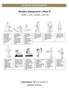 exercises for shoulder impingement Shoulder Rehab Exercises, Shoulder Workout, Rotator Cuff Exercises, Pilates, Shoulder Problem, Physical Therapy Exercises, Academia Fitness, Shoulder Surgery, Shoulder Injuries