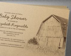 Simple Farm Baby Shower Invitation