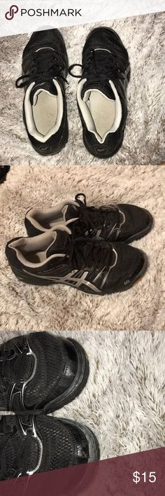 ASICS volleyball shoes (used for one season) Black and silver ASICS volleyball  shoes. fa8690e9a2