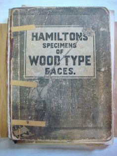 hamilton's specimens of wood type