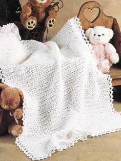 Fast, Easy Crocheted Baby Blanket — Free Crochet Pattern | REPINNED