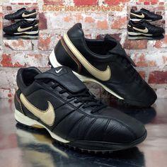 best service 89250 97a0c Nike Tiempo Mens Ronaldinho Football Trainers Black sz 10.5 Turf Soccer US  11.5   eBay Football