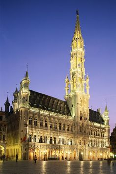 Grand Place by night in Brussels