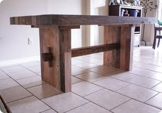 DIY Furniture ~ Follow this step-by-step tutorial to knock off West Elm's Emmerson Dining Table for only $120!