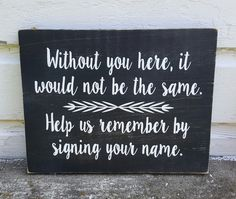 Sign Your Name wedding guest sign