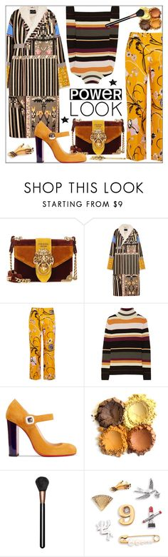 """Girl Power: Power Look"" by pat912 ❤ liked on Polyvore featuring Prada, Etro, Emilio Pucci, Paul & Joe, Christian Louboutin, MAC Cosmetics, Marc Jacobs, Tasha, girlpower and polyvoreeditorial"