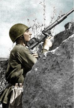 https://flic.kr/p/6YHi1e | Russian Anti Aircraft - Stalingrad 1942 | Recolored using Photoshop CS4
