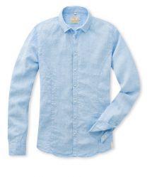 Q1 Hemd STEVE in Hellblau in 100% Leinen, Casual PREMIUM Slim Fit, Shirt Dress, Casual, Mens Tops, Shirts, Shopping, Dresses, Women, Fashion